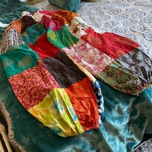 Madras Cotton Harem Pants